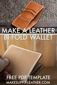 make a leather 5 pocket bi fold wallet with our free pdf template just print it out and cut to use the template need help putting it together