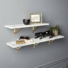 Marble Wall-Mounted Shelves