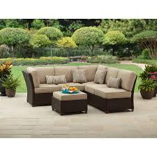 Amazon Cadence Wicker 3 Piece Outdoor Sectional Sofa Set