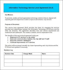 help desk service level agreement template help desk it support service level agreement template help desk