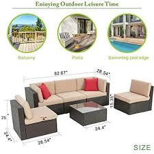 6 piec wicker patio furniture set