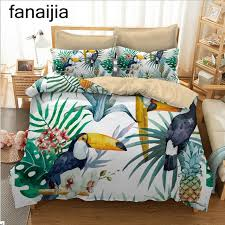 tropical twin comforter sets fanaijia bohemia 3d bedding sets pineapple printing duvet cover set 3pcs pillowcase