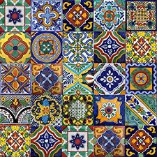 6X6 Decorative Ceramic Tile Amazon 100 100x100 Mexican Tile Stair Riser Mix Home Kitchen 12
