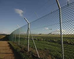 chain link fence. Security Chain Link Fencing At Airport Fence