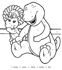 barney color by numbers page color by number printables in spanish duŠan Čech on color by number spanish coloring page