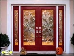 double entry door with glass front doors glass side panels a charming light red double front entry doors with double sidelights double entry doors with