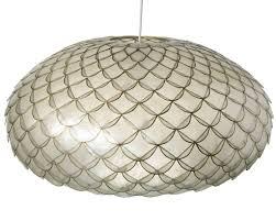 natural capiz shell pendant lamp