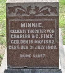 Minnie Fink (1892-1902) - Find A Grave Memorial