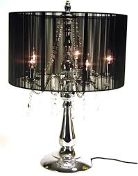 crystal chandelier table lamps photo 2