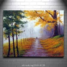 handpainted landscape oil painting impressionist art canvas painting house painting western decor abstract techniques