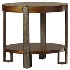 elegant wood round end table loon peak gallatin end table reviews wayfair