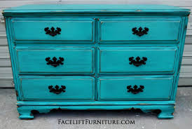 distressed turquoise furniture. Distressed Turquoise Dresser With Black Vintage Pulls Facelift Furniture DIY Blog In