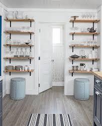 wall mounted kitchen shelves double bowl sink black ceramic area inside idea 1