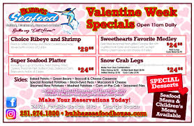 Seafood House Valentines Day Menu ...