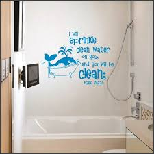 kids bathroom wall decor. Ezekiel 36:25 For Kid\u0027s Bathroom | Old Testament Books Of Bible Christian Wall Decals Kids Decor O
