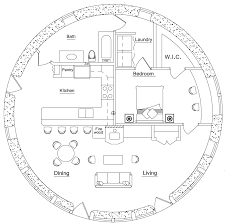 round house plans. 33\u0027 (10m) Roundhouse: One Bedroom (click To Enlarge) Round House Plans O