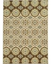 Circle Patterned Area Rug - Tan (5'x8')