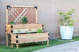 diy tiered raised planter ana white