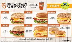 the 5 breakfast daily deals