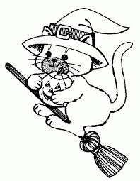 Small Picture Scary Halloween Cat Coloring Pages Archives Gallery Coloring Page