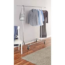 ... Wardrobe Racks, Tall Garment Rack Commercial Clothing Racks Rolling  Stainless Steel Clothes Rack With Single ...