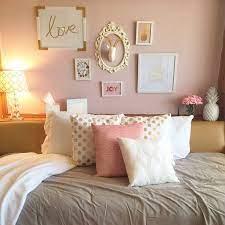 gold bedroom girl room