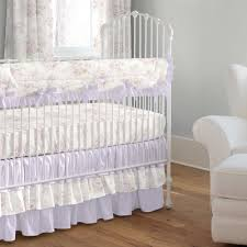 lavender shabby fl 3 piece crib bedding set