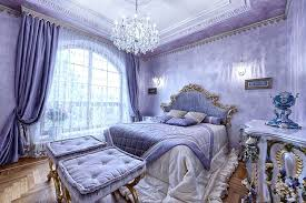 Blue And Purple Bedroom Luxury French Inspired Purple Bedroom With Gold  Gilded Furniture And Crystal Chandelier