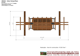 Small Picture home garden plans SW101 Arbor Swing Plans Construction Graden