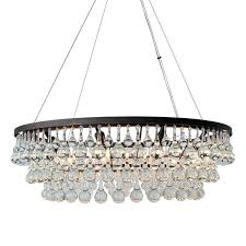 oil rubbed bronze glass drop crystal chandelier 4 light small