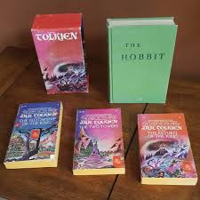 i thought i would show you all my dad s collection of the lord of the rings and the hobbit these books to him are like harry potter is to me