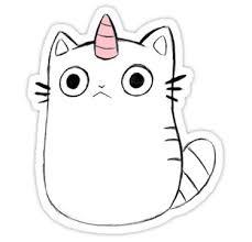 'Caticorn - <b>Unicat</b>' Sticker by <b>unicorndoodles</b> in 2019   Stickers ...