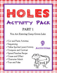 holes by louis sachar activity bundle part 1 ch 1 28
