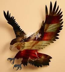patriotic bald eagle metal wall art
