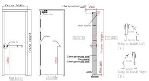 ce standard fire rated glass door with