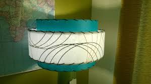 Mid Century Style 3 Tier Fiberglass Lamp Shade Retro Modern