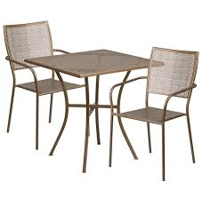 outdoor table and chairs png. flash furniture 28\u0027\u0027 square indoor-outdoor steel patio table set w/ 2 outdoor and chairs png