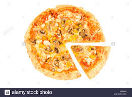 whole cheese pizza sliced. Fine Sliced Overhead View Of A Whole Pizza With Slice Cut Out On Pure White  Background Inside Whole Cheese Pizza Sliced S