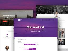 website templates download free designs 30 material design html5 templates available for download free