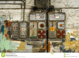 old fuse box on the wall stock photo image  industrial fuse box on the wall royalty stock photo