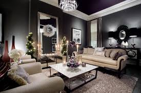 Purple And Black Living Room Victorian With Purple Ceiling Gray Walls And Black Floor