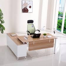 New Design Luxury Modern Boss Office Furniture L Shape Modern Wooden