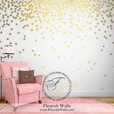 gold polka dot wall decals gold wall