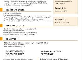 Unusual Jobstreet Resume Format Sample Images Example Resume And