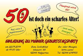 Einladung 50 Geburtstag Lustig Einladungen Geburtstag Ideen