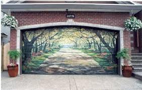 garage door artShangralaFamilyFuncom  Shangralas Garage Door Art