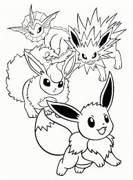 Beste Pokemon Kleurplaten Eevee Kleurplaat 2019
