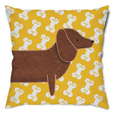 Dachshund Home Decor Dachshund And Dog Bones Throw Pillow Pets Puppys And End Of