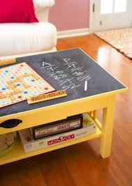 Stolen Idea Chalkboard top coffee table Kyle Not Really a Dude