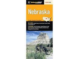 Interstate Mileage Chart Universal Map 26198 Nebraska State Fold Map Newegg Com